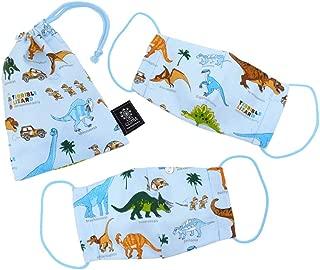 儿童口罩 恐竜ライトブルー 子供用 浅蓝色