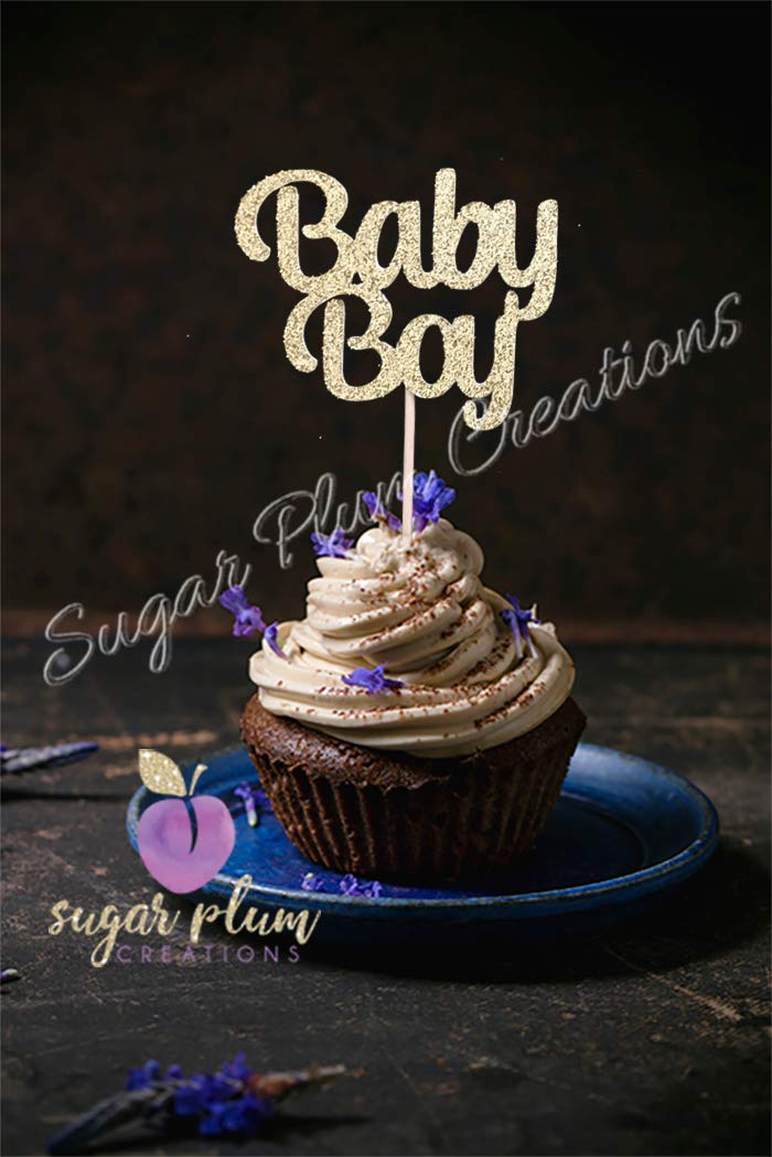 12 件装男婴纸杯蛋糕装饰