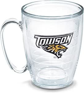 Tervis Towson University Emblem Individual Mug, 16 oz, Clear