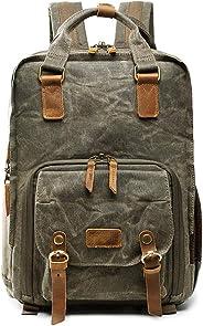DRF 帆布背包,适用于数码单反相机,带三脚架支架,适合 15 英寸笔记本电脑 BG18 *