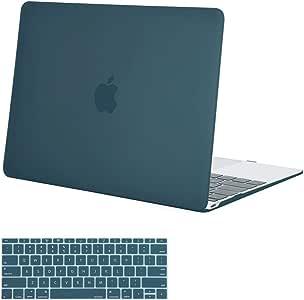 mosiso 塑料硬壳保护套带键盘保护套适用于 MacBook 30.5cm with Retina DISPLAY Deep Teal