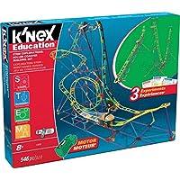 K'Nex 科乐思 益智游戏-STEM Explorations系列 云霄飞车套装-546片-适合8岁以上儿童,建筑教育类玩具