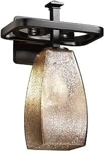 Justice Design Group FSN-8561-28-DROP-NCKL 融合系列Arcadia 1 只灯壁灯