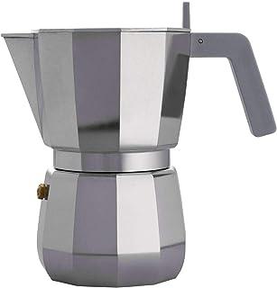 ALESSI 咖啡机铝铸造。 手柄和旋钮,灰色。 6 杯。
