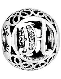 Pandora 潘多拉 丹麦品牌 复古H925银字母串饰791852CZ