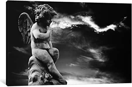 iCanvasART 7223-1PC6-40x26 Angel Sculpture Canvas Print by Unknown Artist, 1.5 x 40 x 26-Inch