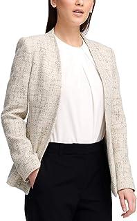 DKNY 女式后系带交叉纹前开式外套