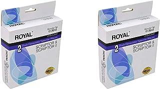 Royal- 2 个黑色可校正打字机丝带 适用于足迹和足迹 2 个(共 4 个彩带!)