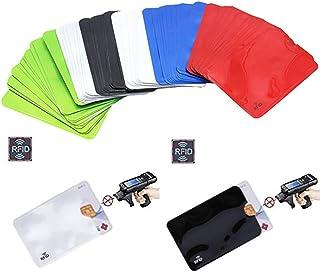 (60包)全息RFID屏蔽套筒,卡夹屏蔽银行防盗钱包保护壳信用卡套*身份防盗