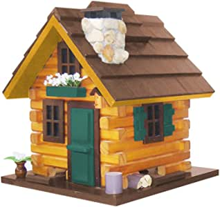 Home Bazaar Country Comfort Bird Feeder, Browns/Green