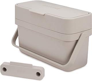 Joseph Joseph Compo 4 方便填充的食物垃圾桶,4 Litres-Stone, 4L