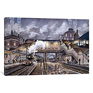 iCanvasART 9538-1PC6 Night Train to Edinbourough Canvas Print by Stanton Manolakas, 1.5 by 26 by 40-Inch