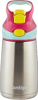 Contigo 康迪克 AUTOSPOUT Striker Chill 带吸管不锈钢儿童水瓶,10 盎司/约296毫升,樱花粉色