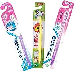lion狮王 3口之家套装(6-12岁)(细齿洁精巧牙刷+细齿洁晶彩牙刷+小狮王儿童牙刷)(颜色随机)