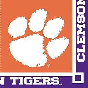 Creative Converting Clemson Tigers Beverage Napkins (20 Count)