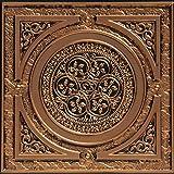 从普通到美丽的时光 225ag-24x24-25 蒸汽朋克天花板瓷砖古董金色 25