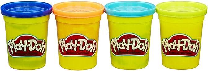Hasbro 孩之宝 Play-Doh 培乐多彩泥 四色装新版 (蓝橙湖蓝亮绿) B6509