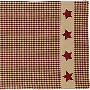 "The Country House 系列 91.44 cm 桌布 Colonial Burgundy Star Runner 13"" x 36"""