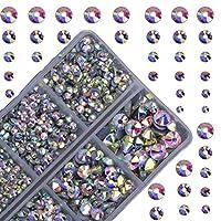 4000 颗热固定圆形水晶宝石玻璃石热修复平背水钻(水晶 AB)