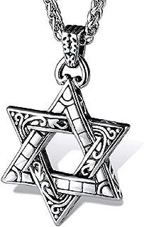 starchenie 大卫之星吊坠项链钛钢首饰