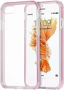 苹果 iPhone 7隐形保险杠 hybird 保护套超薄 agua 透明透明内框 粉色