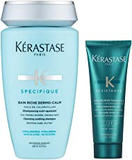 KERASTASE 卡诗 头皮系列舒缓滋润洗发水250ml+丝韧焕活调理乳75ml 洗护套装(进)