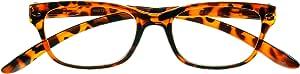 4readers MB390125T Plastic Reading Glasses with Spring Hinge, Tortoise, 1.25 Strength
