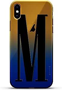 奢华设计师,3D 印花,时尚,高端,高端,Chameleon 变色效果手机壳 iPhone Xs MaxLUX-IMXCRM2B-INITIALM3 black Initial M3 Dusk Blue