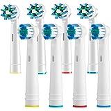 Oral b 电动牙刷替换牙刷头 Pro 1000 Pro 3000 Pro 5000 Pro 7000 Vitality 精密清洁刷头 + 交叉作用头 8 只装