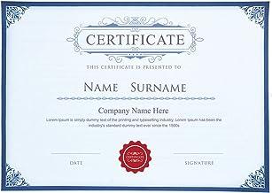 25張 證書紙 藍邊大賞 A4尺寸空白紙 辦公用品 文憑證書紙 激光打印
