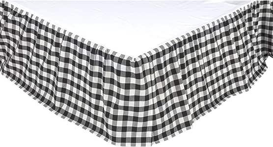 VHC Brands Annie Buffalo 格子床裙 黑色 两个 40408