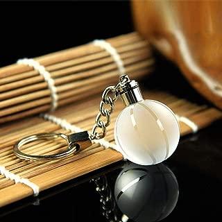 Dinoka) 篮球 水晶 彩灯球钥匙圈 亮丽发光