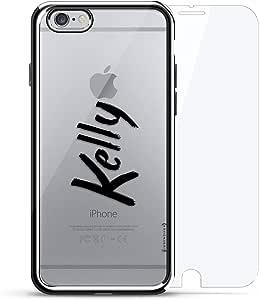 镀铬系列 360 套装:设计师手机壳 + 钢化玻璃 适用于 iPhone 6/6s PlusLUX-I6PLCRM360-NMKELLY1 NAME: KELLY, HAND-WRITTEN STYLE 银色
