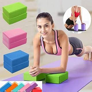 CWM 瑜伽砖道具无乳胶泡沫砖柔软防滑表面锻炼健身运动适用于瑜伽、冥想、普拉提、拉伸