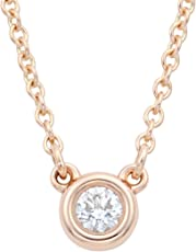 [蒂芙尼] TIFFANY 钻石 0.03ct 18KRG 艾尔莎·柏瑞蒂 钻石 by the Yard 吊坠·项链 【平行进口商品】 28334192