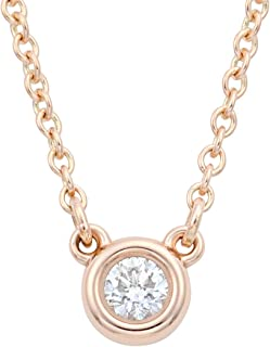 TIFFANY&CO 蒂芙尼 项链/吊坠 钻石 0.03ct 18KRG Elsa Peretti 设计系列 28334192