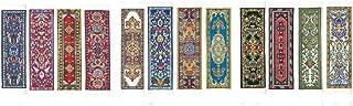 ORIENTAL RUG 地毯书签(12 件套)精美优雅编织布书签! 送给男士、女士、教师和图书管理员的*佳礼物和圣诞礼物!