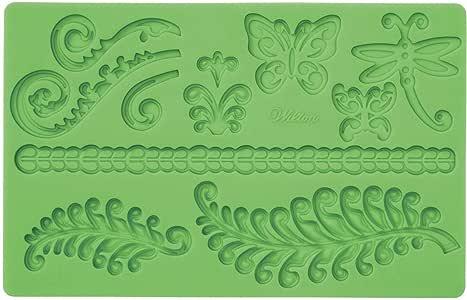 Wilton 软糖和牙胶硅胶模,蕨类植物 绿色 1 - 包 237413