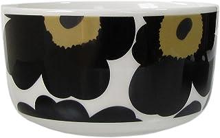 marimekko UNIKKO 碗 白色×黑色 12.5cm 500ml 63433 030 【平行进口】 63433 030