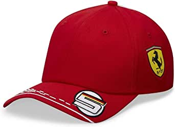 Fans Scuderia Ferrari F1 2020 儿童 Sebastian Vettel 队帽红色