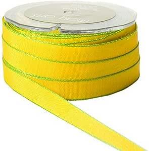 May Arts 3/4 英寸宽缎带 黄色/绿色 KN-56