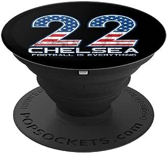 Football Is Everything - Chelsea 美国星星 #22 粉丝复古 PopSockets 手机和平板电脑握架260027  黑色