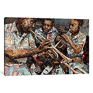 "iCanvasART 1 Piece Blues Boys Canvas Print by Ines Kouidis, 26 by 18""/1.5"" Deep"