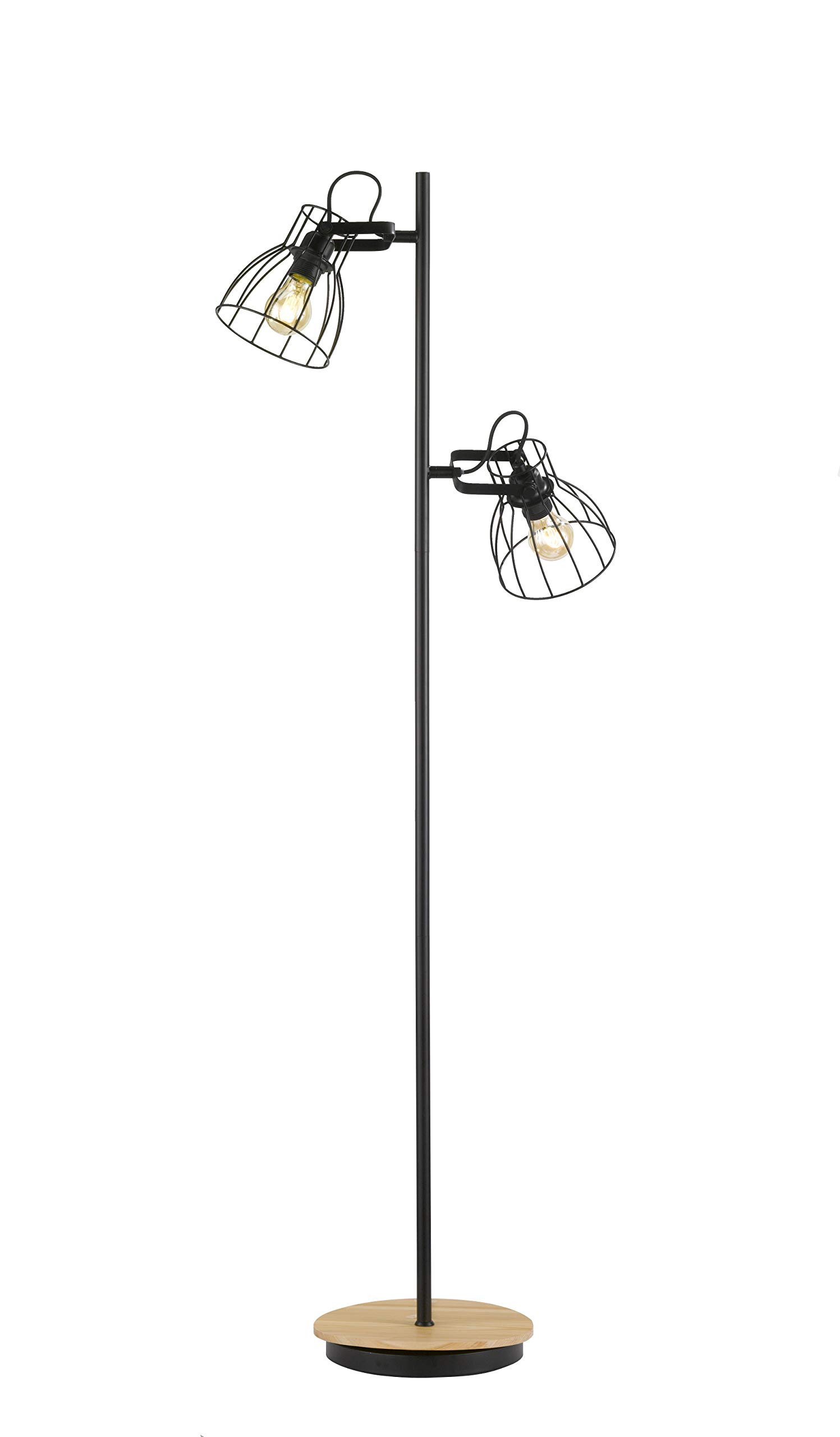 Fischer&Honsel 落地灯,金属,40瓦,黑色