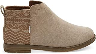 TOMS Deia 时尚女靴 Desert Taupe Suede/Global Print 13 M US 儿童
