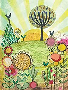 Art Group The Abundant Garden Helen Hallow 帆布画,多色,60 x 80 x 1.3厘米