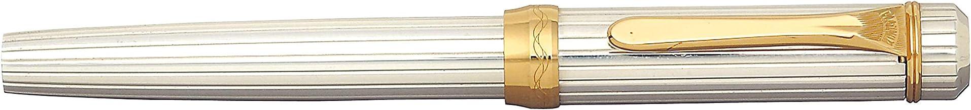 PLATINUM PEN 鋼筆 紋銀 中字筆尖 PTS-50000#9-3