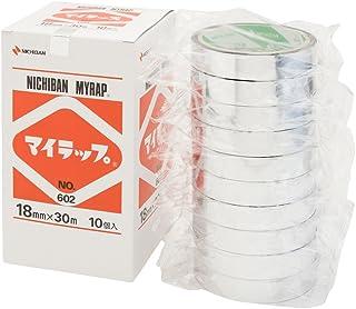 ニチバン ポリエステルテープ マイラップ 18mm×30m 10巻 銀
