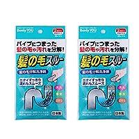 日本进口下水道毛发分解剂疏通剂除臭卫管道通清洗清除异味 (2盒装)