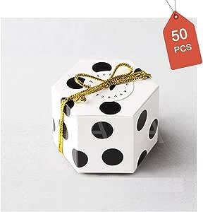 GAKA 糖果盒,散装 5.08x5.08 厘米,带丝带